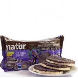 Biscoito Orgânico Sem Glúten de Arroz com Chocolate Amargo Natür - 100gr