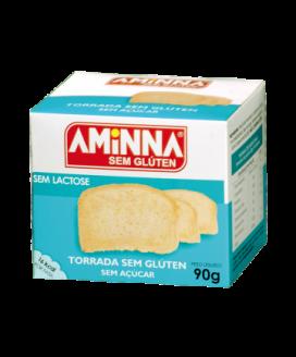 Torrada Sem Glúten e Sem Açúcar Aminna - 90gr