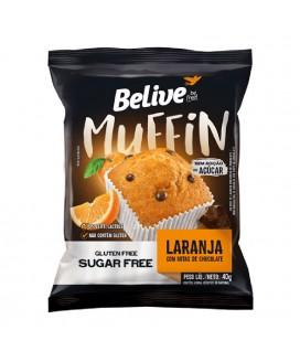 Muffin Laranja com Gotas de chocolate Belive Zero Açucar - 40g