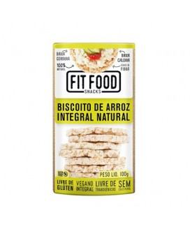 Biscoito de Arroz Integral Natural Fit Food - 100gr