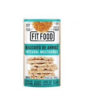 Biscoito de Arroz Integral Multigrãos Fit Food - 100gr