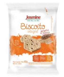 Biscoito Integral de Gergelim e Linhaça Jasmine 80gr
