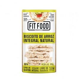 Biscoito de Arroz Integral Natural Fit Food - 100gr
