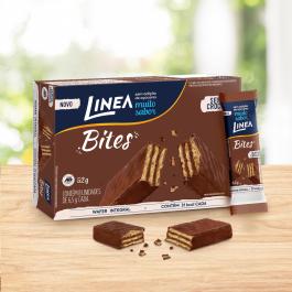 Mini Wafer Bites Chocolate ao Leite Línea - 52gr - 8 Unidades