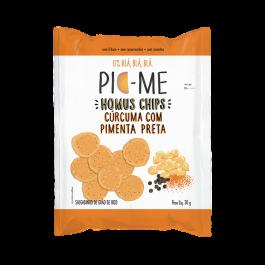 Homus Chips Cúrcuma com Pienta Preta Pic-Me - 30gr