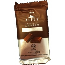 Chocolate Amargo 54%  Zero Açúcar Salware - 30gr