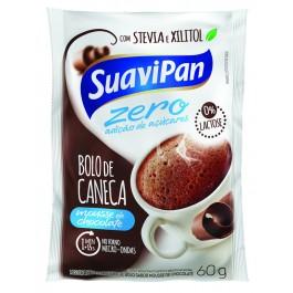 Bolo de Caneca Zero Açúcar Mousse Chocolate Suavipan - 60gr