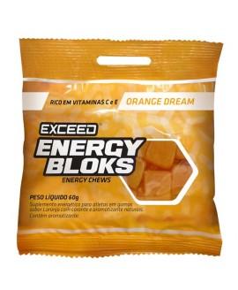 Bala Exceed Energy Bloks Laranja - 60gr