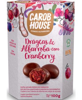 Cranberry Coberto com Alfarroba Carob House - 100gr