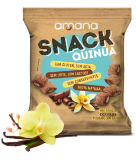 Mini Folhado de Chocolate com Recheio de Baunilha Amana - 40gr