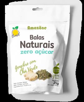 Bala Gengibre com Chá Verde Amazöne - 21gr
