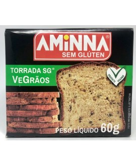 Torrada VeGrãos Sem Glúten Aminna - 60gr
