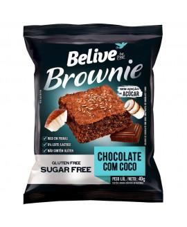 Brownie Chocolate com Coco Sem Açúcar Belive - 40gr