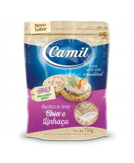 Biscoito de Arroz Integral Chia e Linhaça Camil - 150gr