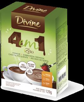 Chocolate Divine 5 em 1 Zero - 120gr