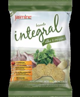 Biscoito Integral de Alho e Orégano Jasmine 80gr
