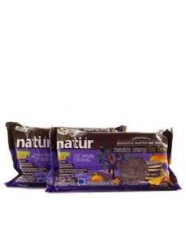 Biscoito Orgânico Sem Glúten de Arroz com Chocolate Amargo com Laranja Natür - 100gr
