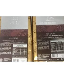 Chocolate Nugali Zero Açúcar 70% Cacau - 500gr