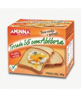 Torrada Sem Glúten de Abóbora Sem Açúcar Aminna - 90gr