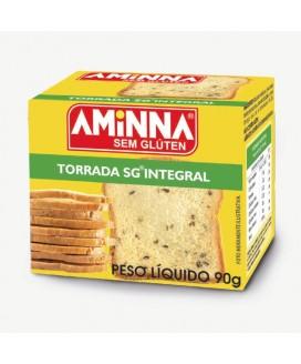 Torrada Sem Glúten Integral Aminna - 90gr