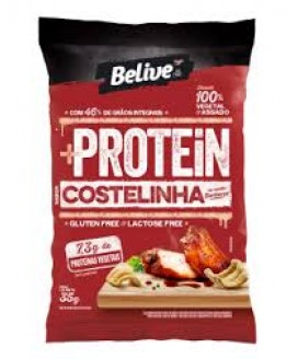Snack +Protein Costelinha ao Molho Barbecue Belive - 35gr