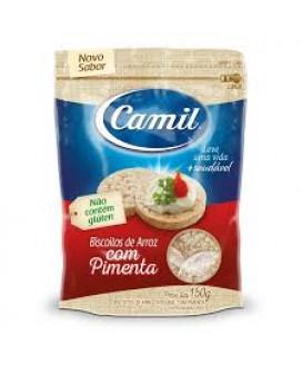 Biscoito de Arroz Integral Pimenta Camil - 150gr