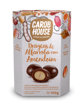 Drágeas de Alfarroba com Amendoim Carob House - 100gr