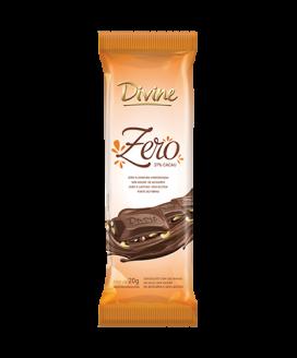 Chocolate Zero ao Leite com Castanha Divine - 20gr