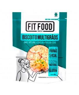 Biscoito de Arroz Integral Multigrãos Fit Food - 50gr