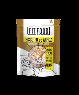 Biscoito de Arroz Quinoa e Linhaça Fit Food - 50gr