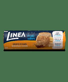 Biscoito Integral Banana e Canela Cereais Línea - 120G