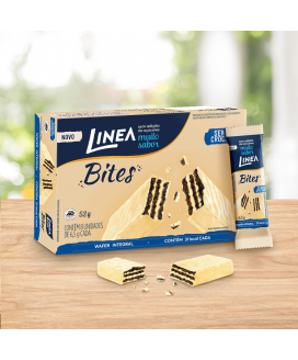 Mini Wafer Bites Cookie N'Cream Línea - 52gr - 8 Unidades