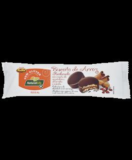 Biscoito de Arroz Recheado com Pasta de Amendoim, Alfarroba e Canela Natural Life - 40gr