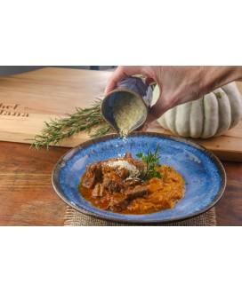 Carne de Panela com Purê de Cabotiá Olive Alimentação Low Carb
