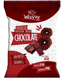 Biscoito Chocolate Fit WheyViv - 45gr