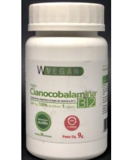 Vitamina B12 Cianocobalamina 2,4mcg WVegan - 30 Cp