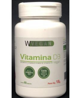 Vitamina D3 5mcg 200 UI WVegan - 60cp
